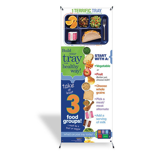 1 Terrific Tray™ Banner with Stand