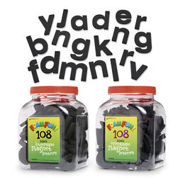Fun Foam™ Black Magnetic Complete Letter Set
