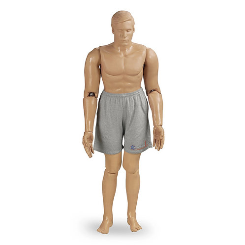 Simulaids® Handcuffing Police Training Manikin - 55in. x 27in. x 13in. - Light