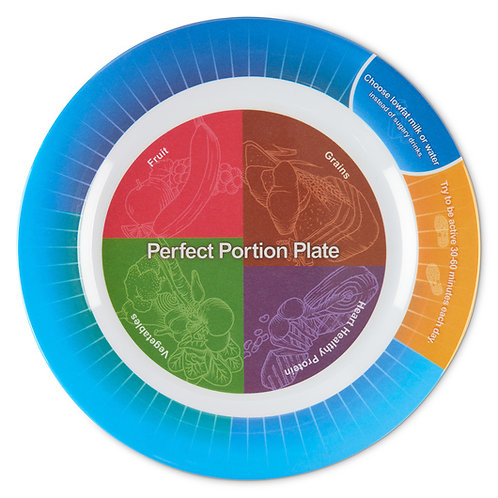 "Portion Control Plate - 9-3/4"" dia."