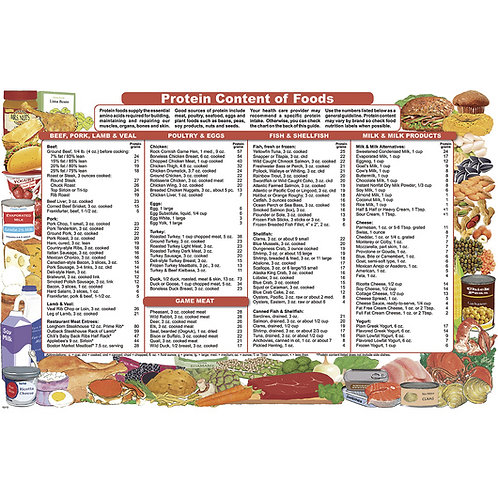 Nutrition Education Brochure - Protein Content of Foods - Pack of 50