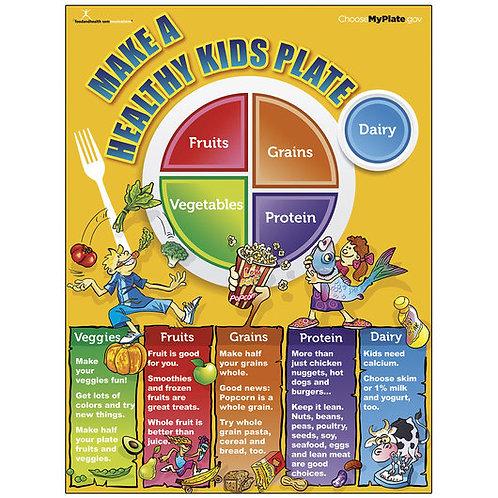 MyPlate Kids Poster - 18 in. x 24 in.