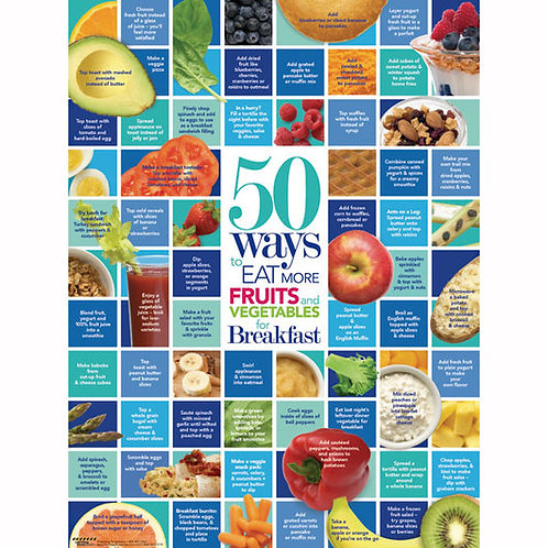 50 Ways to Eat More Fruits and Vegetables - Poster