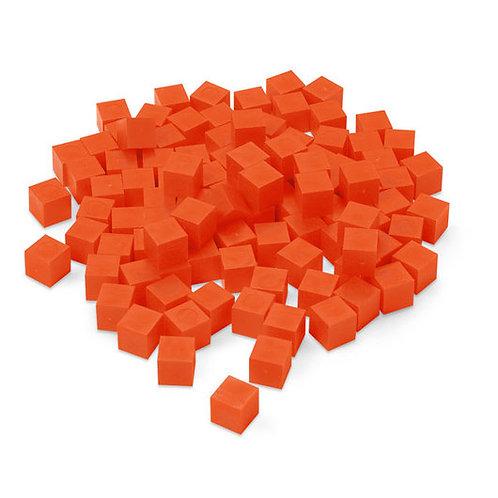 Orange Base 10 (Ten) Blocks - Pkg. of 100 Unit Cubes