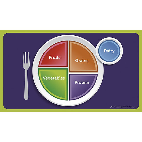 MyPlate Cling Place Mats - 19 in. x 11 in. - Set of 5