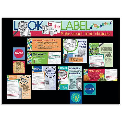 Nutrition Labels Bulletin Board Kit