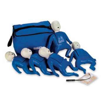 CPR Prompt® Training and Practice Manikin - TPAK 50 Infant 5-Pack, Blue