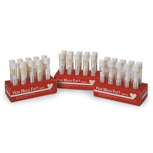 How Much Fat? Test Tube Displays - Complete Set