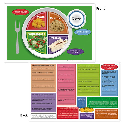 Nasco MyPlate TearPad™/Place Mats - 17 in. x 11 in. - 50 Sheets