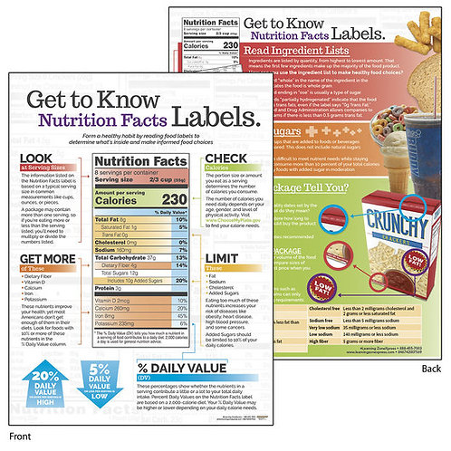Get to Know Nutrition Facts Labels - Tablet - 8-1/2 in. x 11 in. - 50 sheets