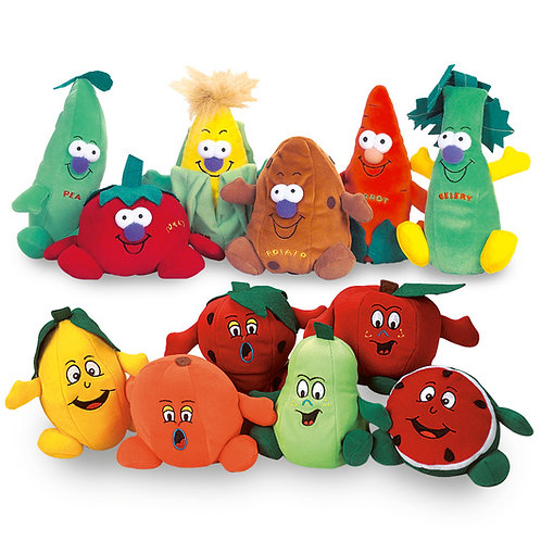 Fruit and Vegetable Beanbags - Set of 12