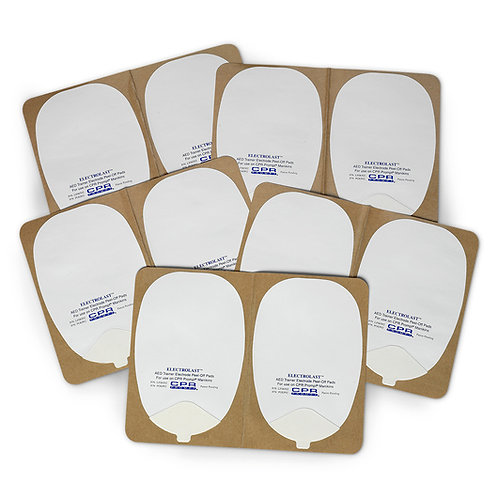 ElectroLast™ AED Trainer Foam Electrode Peel-Off Pads - Heartstream Style