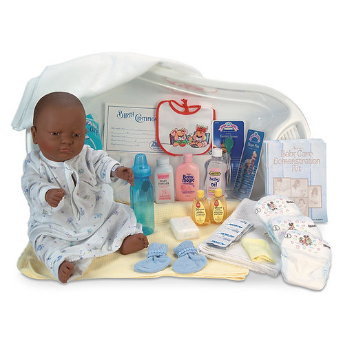 Baby Care Kit with Black Female Baby