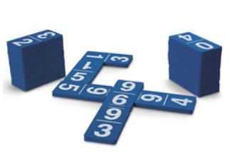 Foam Number Dominoes Set