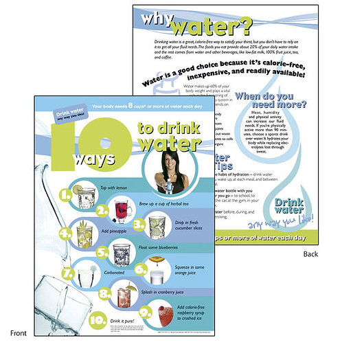 10 Ways to Drink Water Tablet 8-1/2 in. x 11 in. - 50 Sheets