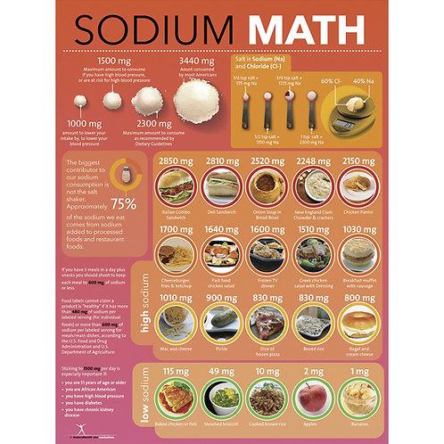 Sodium Math Poster - 18 in. x 24 in.