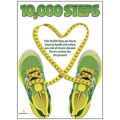 10,000 Steps Poster
