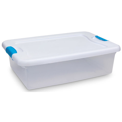 Latch Box Clear Storage Container - 32 Quart - 23-3/4 in. x 16 in. x 6-7/8 in.