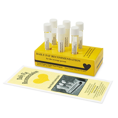Daily Fat Recommendation Test Tube Display