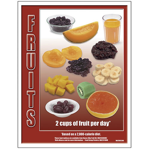 Food Group TearPad™ - Fruit Group - 8-1/2 in. x 11 in. - 50 Sheets