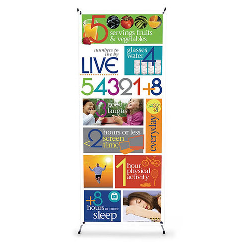 Live 54321+8® - Vinyl Banner with Stand