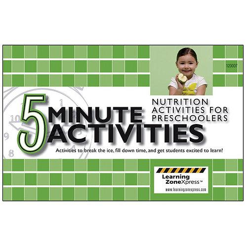 5-Minute Nutrition Activities for Preschoolers - 8-1/2 in. x 5-1/2 in.