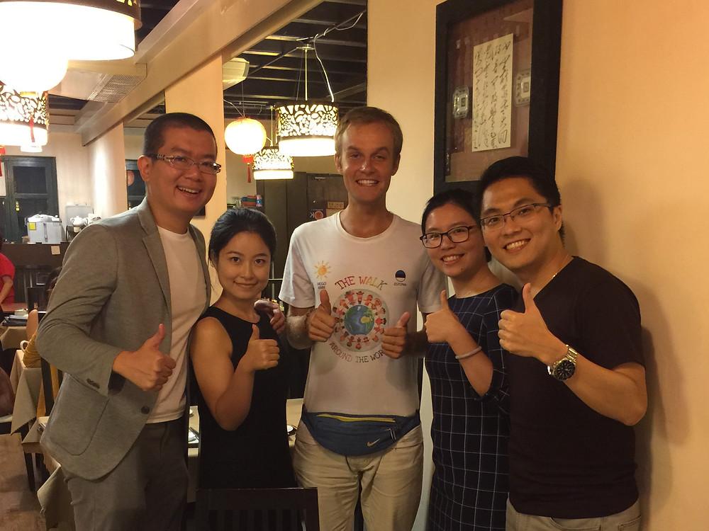 We met Meigo in Singapore. He walked here all the way from Estonia!