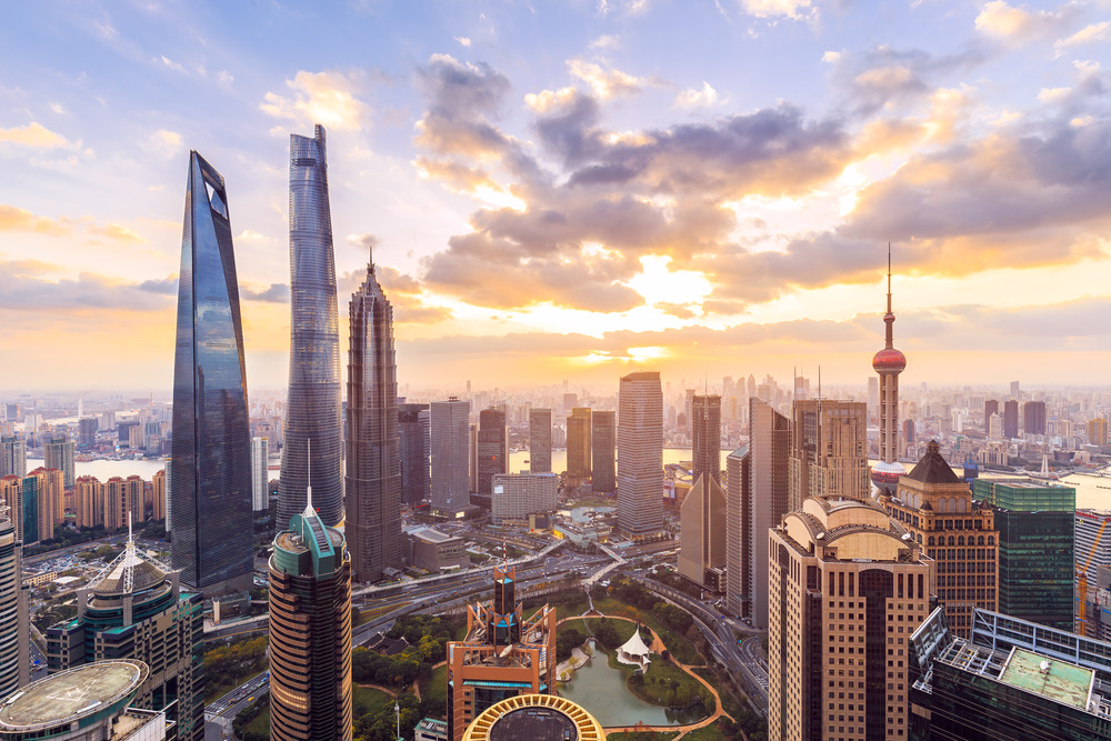 Shanghai bustling with activity