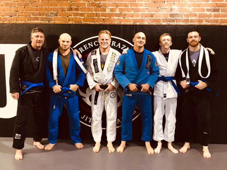 Four Florence BJJ Students Earn Blue Belts