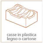 casse in plastica legno cartone