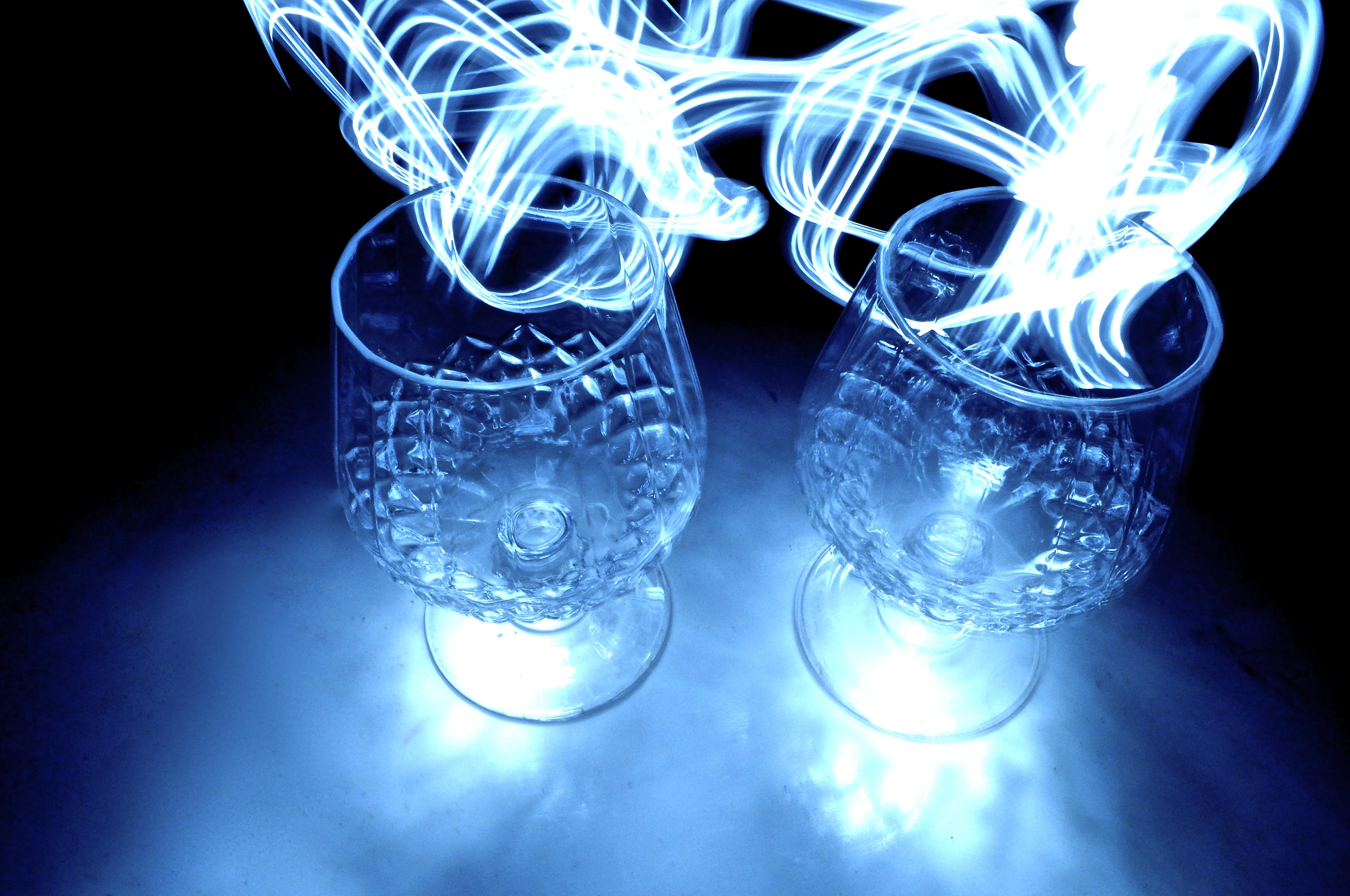 Light Trails - Wine Glasses