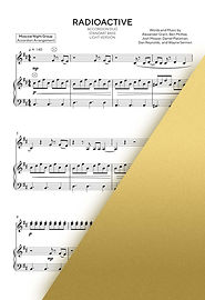 IMAGINE GRAGONS - RADIOACTIVE | Accordion Sheet Music | Ноты для аккордеона и баяна