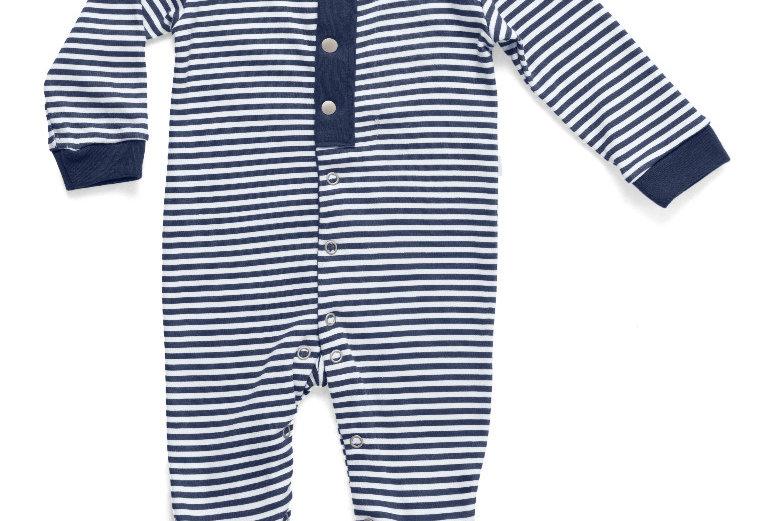 Macacão Longo Estampado Navy Boy   Hug Baby