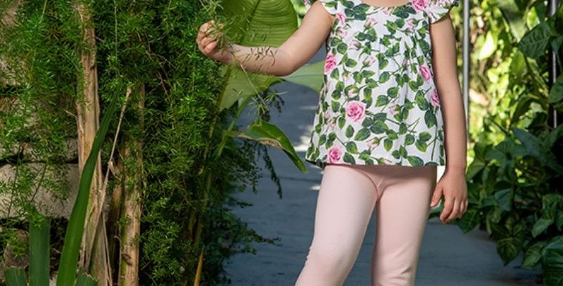 Conjunto Bata Floral Infantil   Vrasalon