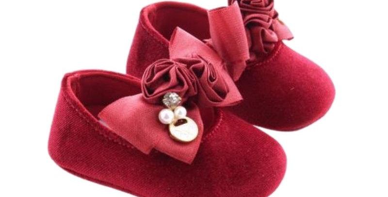 Sapatilha Veludo Vermelho Baby - Xuá Xuá