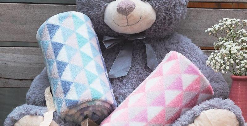 Cobertor Manta Microfibra Baby Trio Azul   Camesa