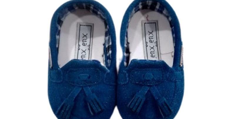 Mocassim Camurça Baby Azul Royal - Xuá Xuá