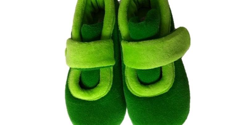 Pantufa Fecho Verde Infantil