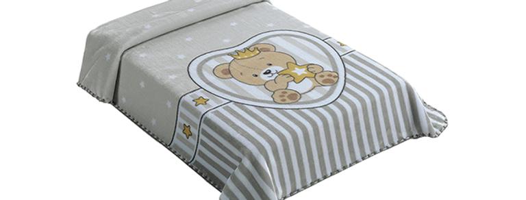Cobertor Le Petit Raschel SuperStar Bege Colibri