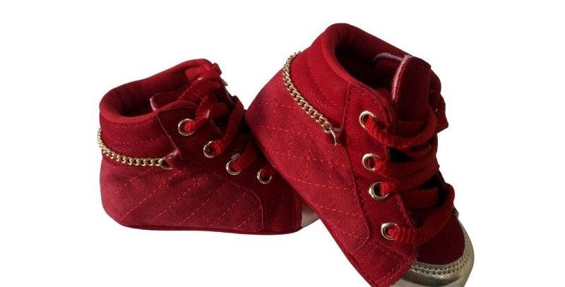 Tênis Snekers Baby Vermelho - Xuá Xuá