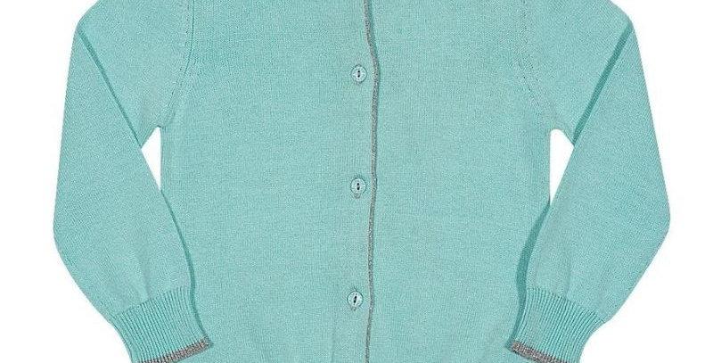 Casaco Cardigan Tricot Bebê Verde - Tip Top