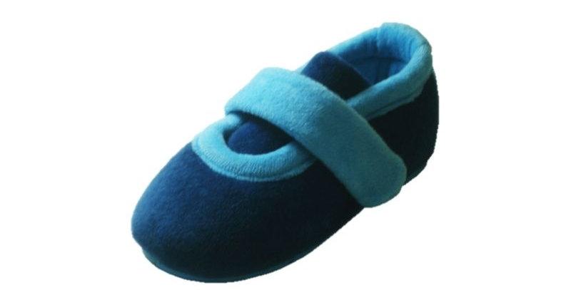 Pantufa Infantil com Fecho Azul