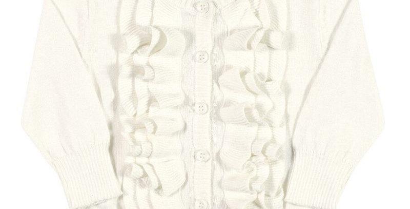 Casaco Cardigan Tricot Infantil Marfim - Tip Top