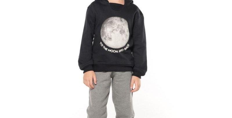 Conjunto Moletom Capuz Moon and Black | Vrasalon