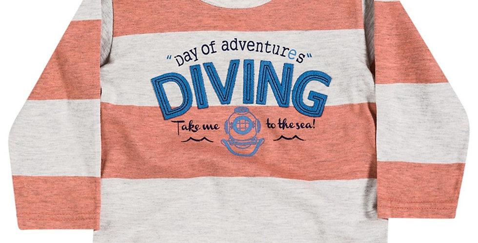 Camiseta Bebê Masculina Diving - Milon
