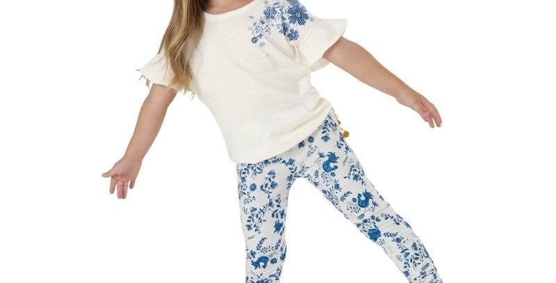 Conjunto Blusa e Calça Legging Kids Azul   Up Baby