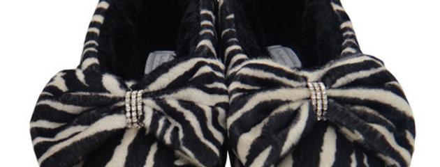 Pantufa Sapatilha Glam Zebra