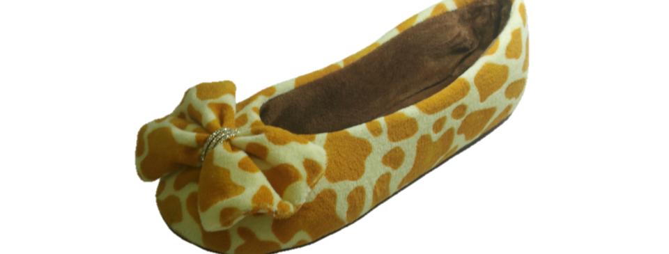 Pantufa Sapatilha Top Strass Girafa