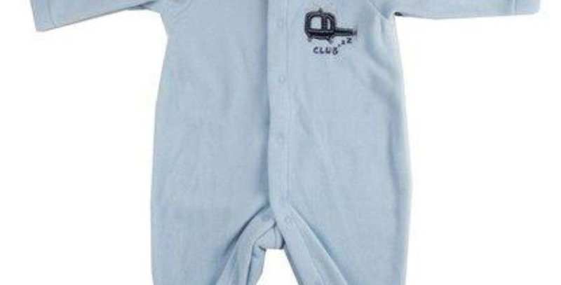 Pijama Soft Macacão Bebê Azul - Piu Piu
