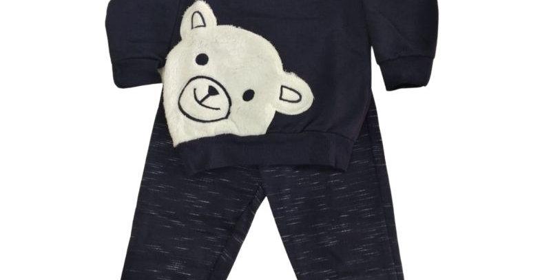 Conjunto Moletom Urso Pelo Azul Marinho   Hrradinhos